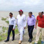 Zahid visits city protection embankment in Rajshahi